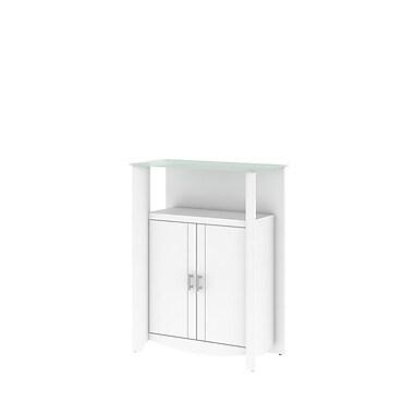 Bush Aero 2-Door Medium Library Storage, Pure White