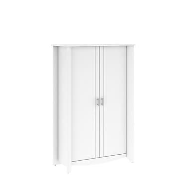 Bush – Grand meuble de rangement à 2 portes de la collection Aero, fini blanc pur