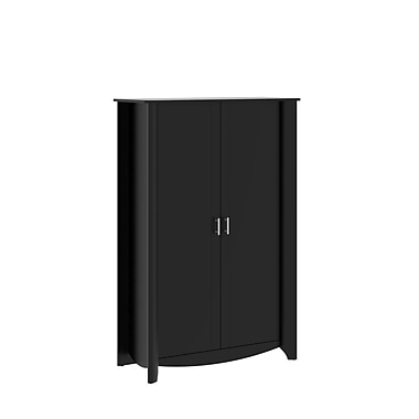 Bush Furniture Aero Tall Storage Cabinet with Doors, Classic Black (MY16997-03)