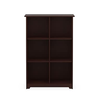 Bush Furniture Cabot Collection 6 Cube Bookcase, Harvest Cherry (WC31465-03)