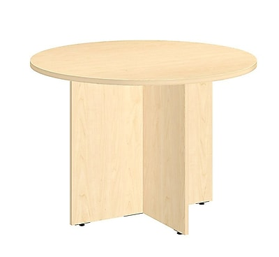 Bush Business 41.37'' Round Conference Table, Natural Maple, Installed (99TB42RACFA)