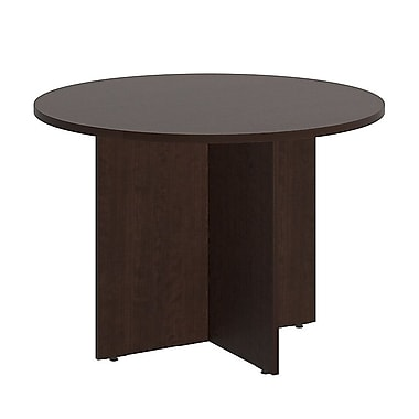 Bush Business 42'' Round Conference Table, Mocha Cherry (99TB42RMR)