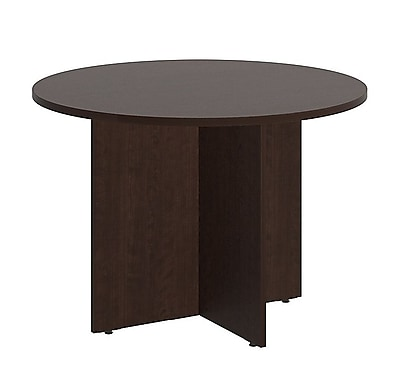 Bush Business 42'' Round Conference Table, Mocha Cherry, Installed (99TB42RMRFA)