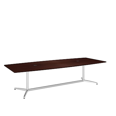 Bush Business 120'' Rectangular Conference Table, Harvest Cherry, Installed (99TBM120CSSVKFA)