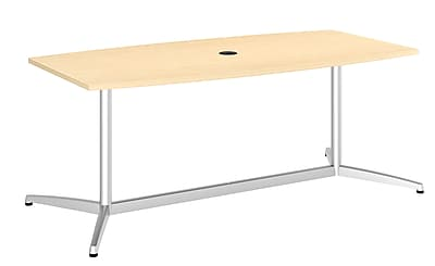 Bush Business 72'' Boat Conference Table, Natural Maple, Installed (99TBM72ACSVKFA)