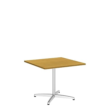 Bush Business 36'' Square Conference Table, Modern Cherry, Installed (99TBX36SMCSVKFA)