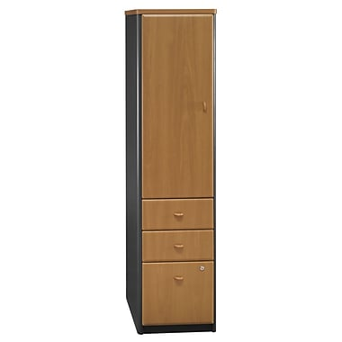 Bush Cubix Vertical Locker, Natural Cherry/Slate Gray, Pre-Assembled