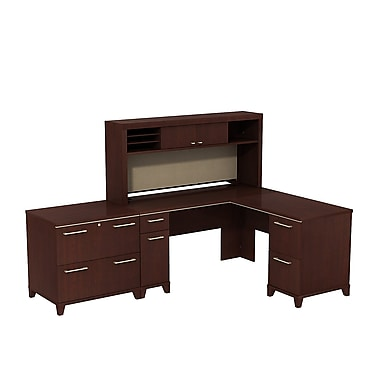 Bush Enterprise L-Desk with Hutch and Lateral File, 60