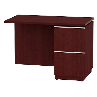 Bush Business Furniture Milano2 42W RH Single Pedestal Return, Harvest Cherry (50RR42CSFA)