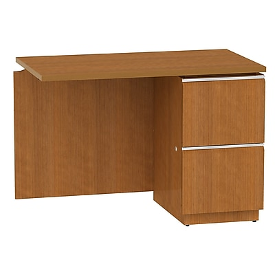 Bush Business Furniture Milano2 42W RH Single Pedestal Return, Golden Anigre (50RR42GAFA)
