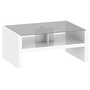 Kathy IrelandMD par BushMD – Table basse collection NYS, blanc Plumeria