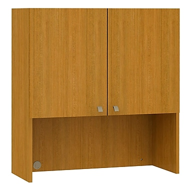 Bush Business Furniture Quantum 36W Hutch with Doors, Modern Cherry (QT336FMC)