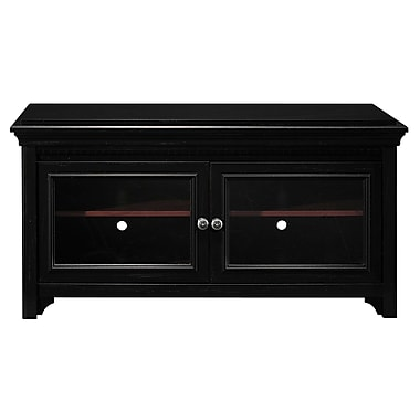 Bush Stanford TV Stand, Antique Black/Hansen Cherry