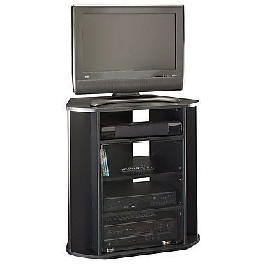 Bush Furniture Visions Tall Corner TV Stand Black