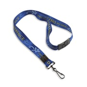 """1346696BAC31 36"""" I Make the Difference Lanyards with Breakaway Release, Blue 10/Pack"""
