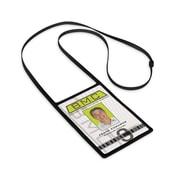 IDville 1346873 Vertical Badge Holder with Flexible Lanyard