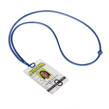 IDville 1346872RB31 Flexible Rope Lanyards, Blue, 10/Pack