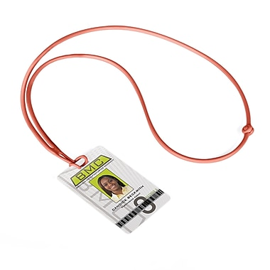IDville 1346872RD31 Flexible Rope Lanyards, Red, 10/Pack