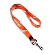 "IDville 1347503STC31 36"" Volunteer Pre-Designed Lanyards, Orange, 10/Pack"