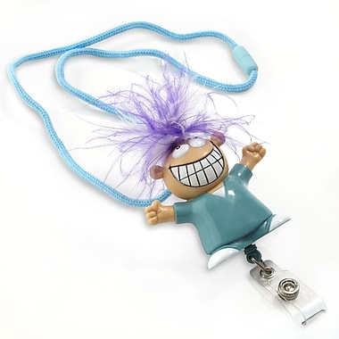 134678931 Goofy Guy Retractable Lanyards with Doc, Blue, 5/Pack