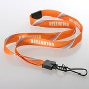 "IDville 1347503BAC31 36"" Volunteer Pre-Designed Lanyards with Breakaway Release, Orange, 10/Pack"