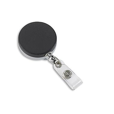 IDville 134674631 Round Slide Clip Badge Reels, Black, 10/Pack