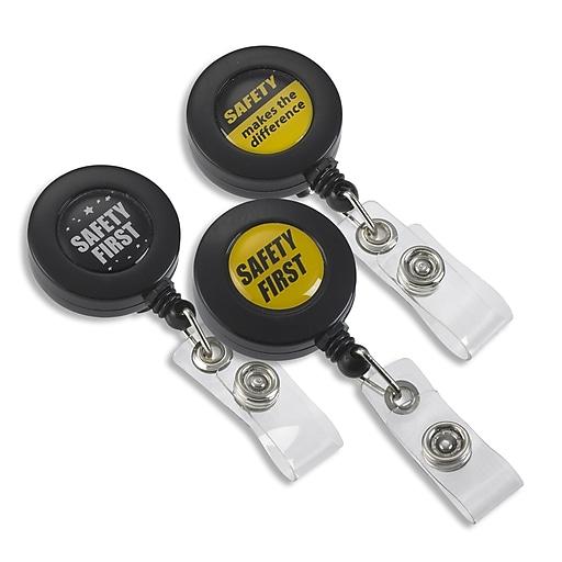 IDville 134670831 Round Slide Clip Badge Reels, Assorted, 25/Pack