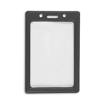 IDville 1347031BK31 Vertical Color Frame Badge Holders, Black, 50/Pack