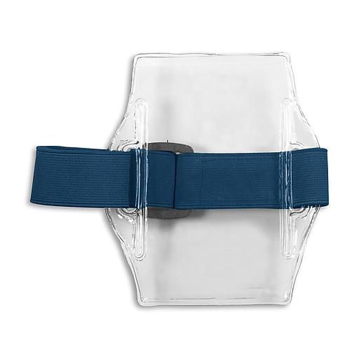 IDville 1345237BL31 Vertical Armband Badge Holders, Blue, 10/Pack