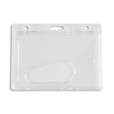 IDville 134647931 Horizontal ID Badge Holders, Clear, 50/Pack