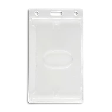 134664931 Vertical ID Badge Holders, Clear, 50/Pack