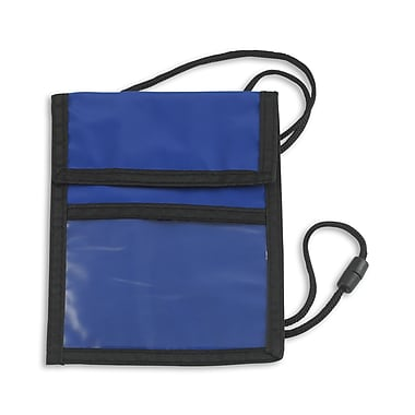 1346999BL31 Event Zipper Pouch Badge Holders, Navy Blue, 25/Pack