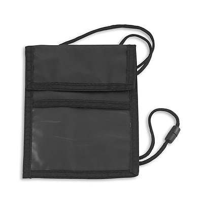 IDville 1346999BK31 Event Zipper Pouch Badge Holders, Black, 25/Pack