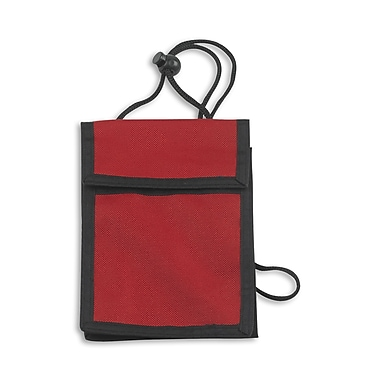 1346667RD31 Expandable Badge Holders, Red, 25/Pack