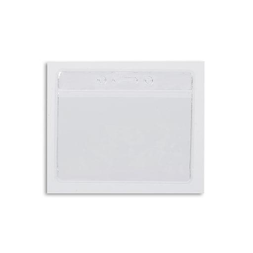 IDville 1343821CL31 Color Bar Horizontal Badge Holders, Clear, 50/Pack