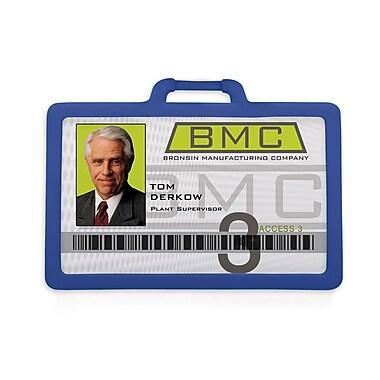 1341225RB31 Horizontal Badge Holders, Royal Blue, 10/Pack