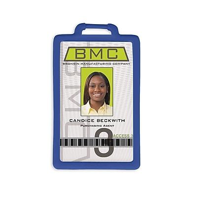 IDville 1341224RB31 Vertical Badge Holders, Royal Blue, 10/Pack