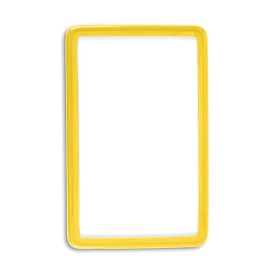 1347575YL31 Flexible Translucent PVC Frame ID Guards, Yellow, 25/Pack