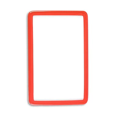 1347575RD31 Flexible Translucent PVC Frame ID Guards, Red, 25/Pack