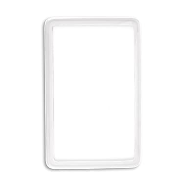 1347575YL31 Flexible Translucent PVC Frame ID Guards, Clear, 25/Pack