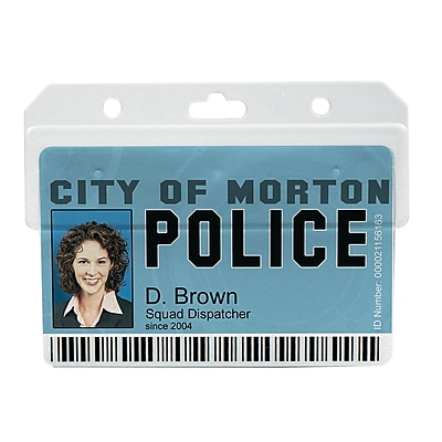 IDville 134528431 Horizontal Swipe Card Badge Holders, Clear, 25/Pack