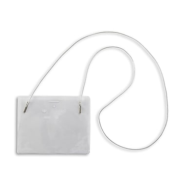 134256531 Horizontal Event Badge Holders with Cord, Clear, 50/Pack