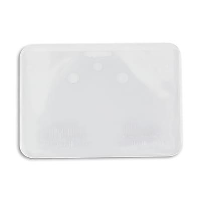 134522831 Horizontal Credit Card Size Badge Holders with Slot, Clear, 50/Pack