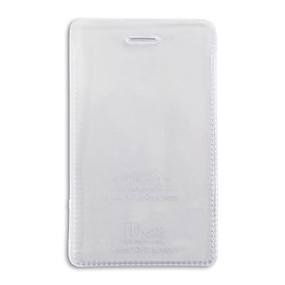 134254331 Vertical Credit Card Size Badge Holders with Slot, Clear, 50/Pack