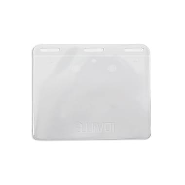 134302731 No-Flip Triple Slot Horizontal Badge Holders, Clear, 50/Pack