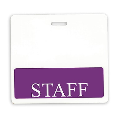 134254731 Staff Position Identity Cards, White/Purple, 25/Pack