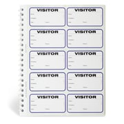 IDville 134678231 Spiral-Bound Temporary School Visitor Login Book, White
