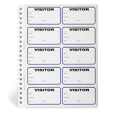 IDville® Spiral-Bound Temporary Visitor Login Book