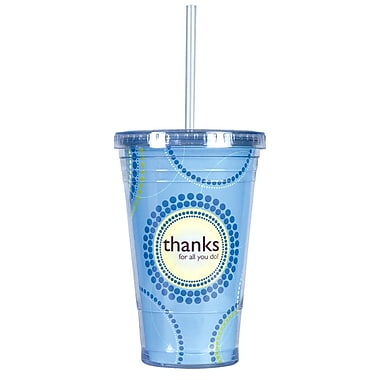 Twist Top Tumbler With Straw, Thanks for All You Do!