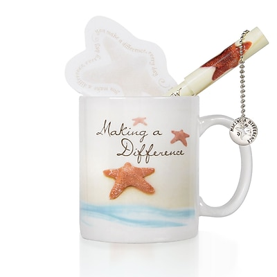 Baudville® Celebration Mug Gift Set, Starfish: Making a Difference